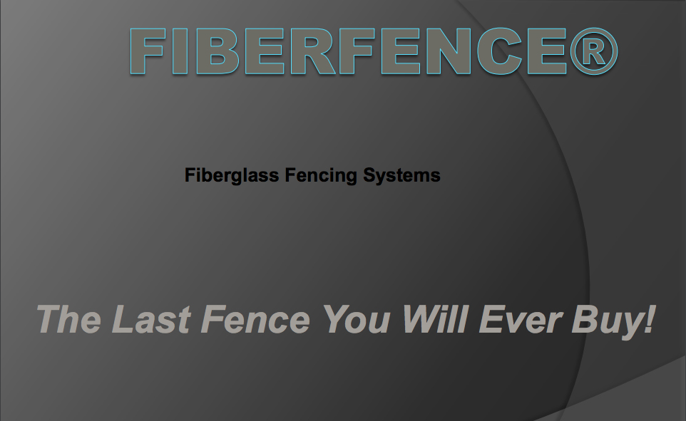 Fiberfence Overview Presentation Cover